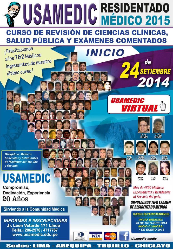 RESIDENTADO MEDICO 2014 USAMEDIC 1