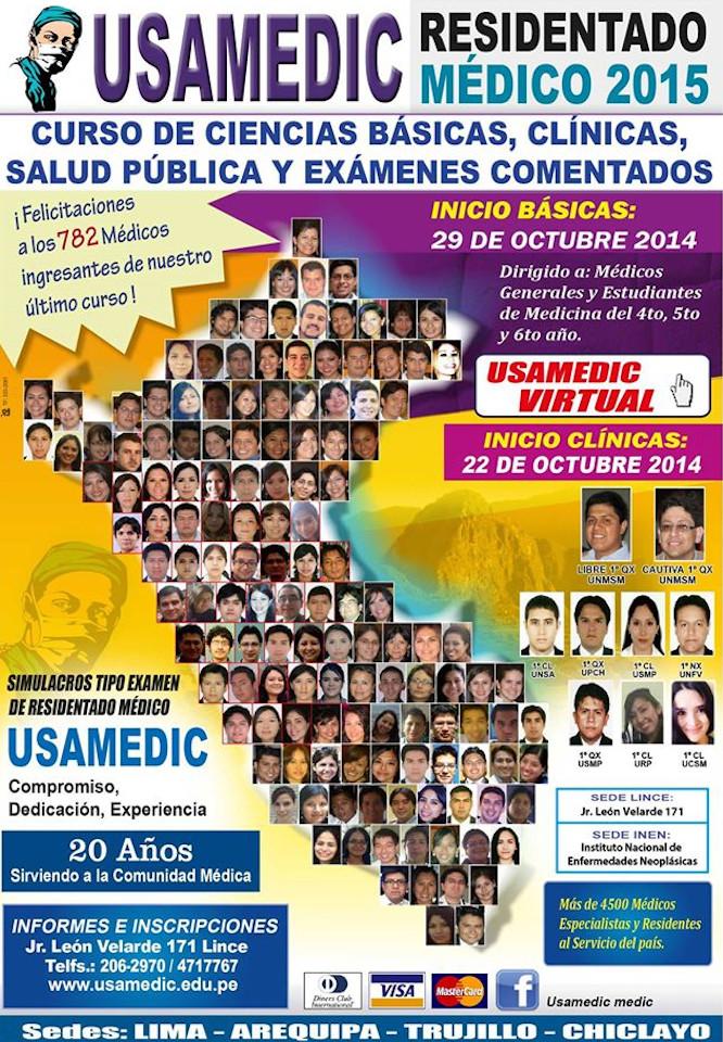 RESIDENTADO MEDICO 2014 USAMEDIC 2