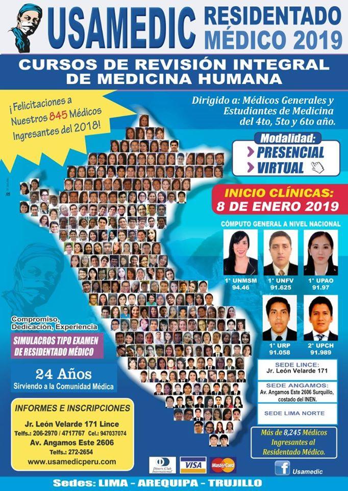 RESIDENTADO MEDICO 2018