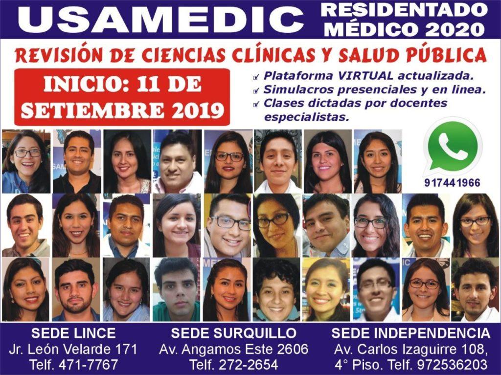 RESIDENTADO MEDICO 2019 USAMEDIC