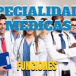 especialidades médicas y sus funciones
